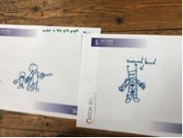 Lapsen näkemyksiä roboteista.